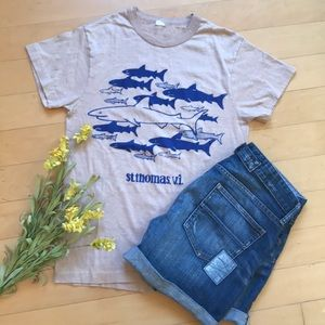 🆕Vintage St. Thomas Shark Print Graphic Tee